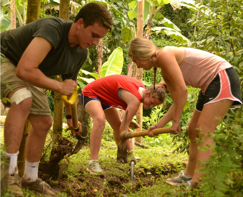 Volunteers Working in Costa Rica