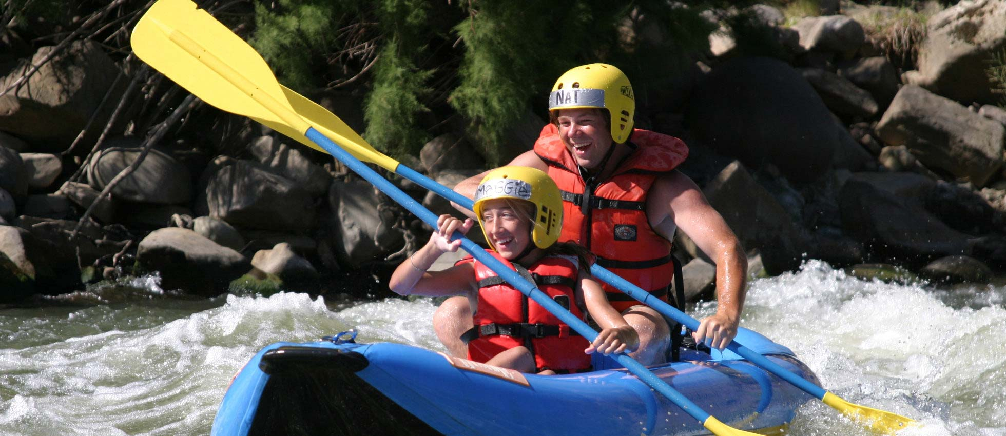 Whitewater Raft on Cache Creek