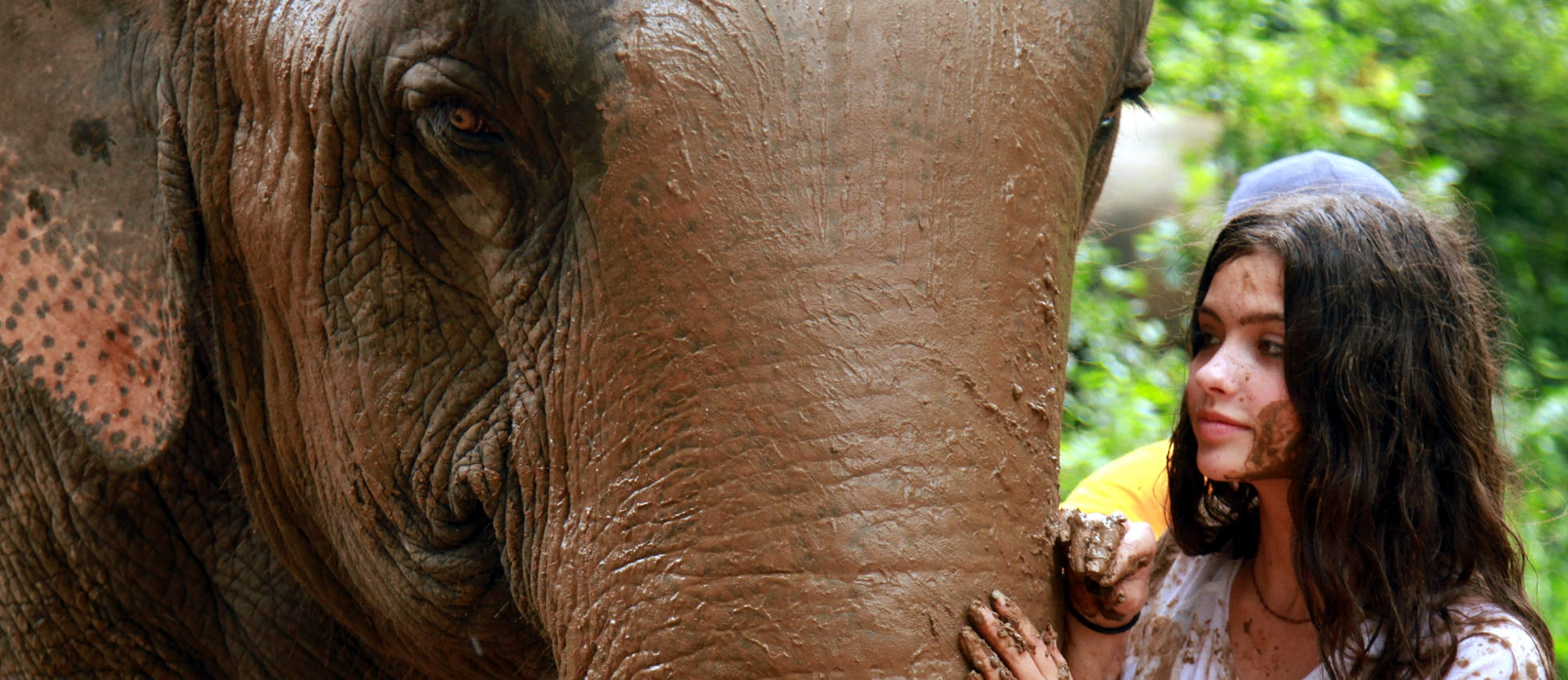 Summer Travel Programs for Teens - Camper with Elephant in Thailand