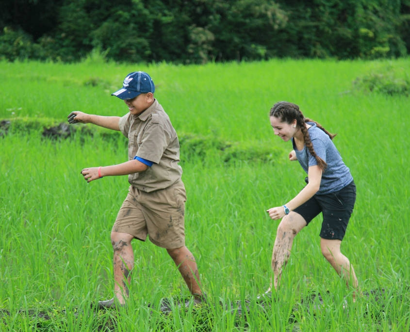 Thailand Hill Tribe Impact - Playing in the Rice Paddies