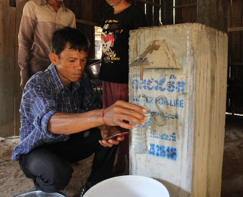 Vietnam_Cambodia - Getting Clean Water from Newly Constructed Water Filter